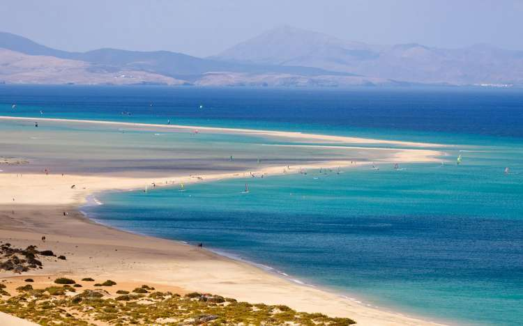 Playa de Sotavento, Fuerteventura, Canary Islands