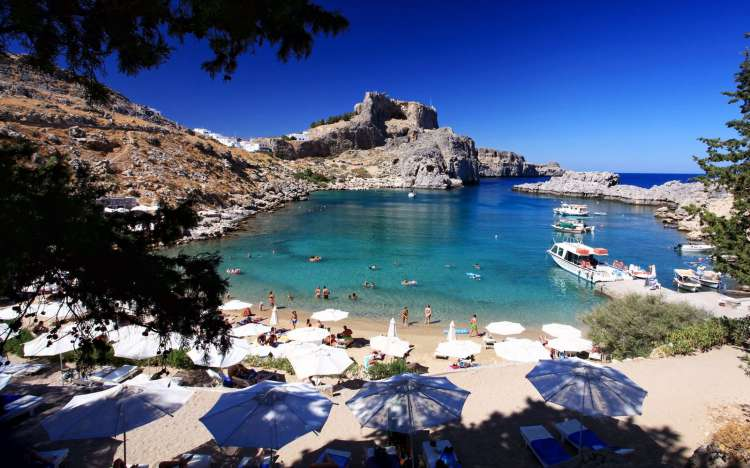 St Paul's Bay - Rhodes, Greece