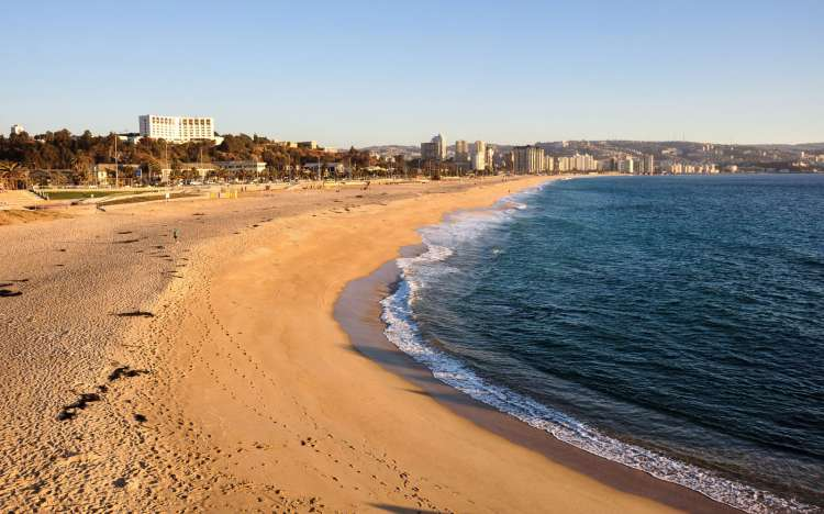 Vina del Mar beach, Chile